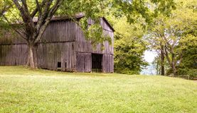 Tennessee Barn on the Natchez Trace Parkway stock photos