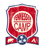 Tennessee Camp Vintage sign Stock Images