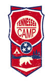 Tennessee Camp Vintage sign Royalty Free Stock Image