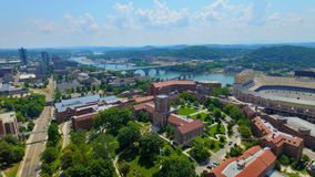 Tennessee campus in Knoxville. Overlooking Tennessee campus and Neyland Stadium Knoxville Stock Photos