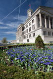 Tennessee Capitol. The Tennessee State Capitol, located in Nashville, Tennessee, is the home of the Tennessee legislature, and the location of the governor's Royalty Free Stock Photos