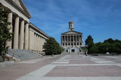 Tennessee Capitol and War Memorial Auditorium. The Tennessee State Capitol, located in Nashville, Tennessee, is the home of the Tennessee legislature, and the Royalty Free Stock Images