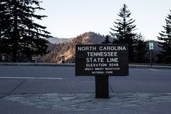 Tennessee And Carolina Border Royalty Free Stock Photography