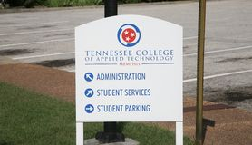 Tennessee College of Applied Technology Sign. Tennessee College of Applied Technology located in Memphis, TN Stock Photos