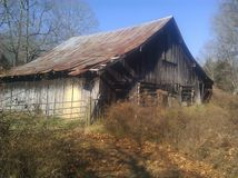 Tennessee  country barn. Old antique barn Stock Photos