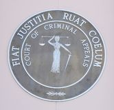 Court of Criminal Appeals badge, Jackson, Tennessee. Stock Photos
