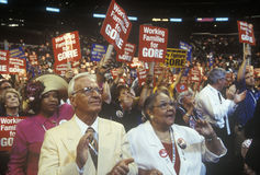 Tennessee delegates. At the 2000 Democratic Convention at the Staples Center, Los Angeles, CA Stock Photos