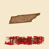 Tennessee distressed map. Stock Photography