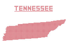 Tennessee Dot Map Royalty Free Stock Image