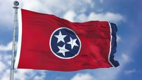 Tennessee falowania flaga fotografia stock