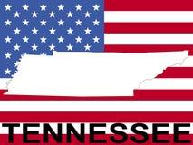 Tennessee on flag vector illustration