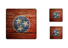 Tennessee Flag Buttons Stock Photos