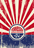 Tennessee Flag Retro sunbeams background Stock Photography