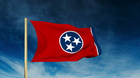 Tennessee flag slider style. Waving in the win stock footage