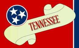Tennessee flaga ślimacznica ilustracji