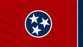 Tennessee-Flagge flattert im Wind, Schleife für Hintergrund stock footage
