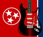 Tennessee gitara Obraz Stock