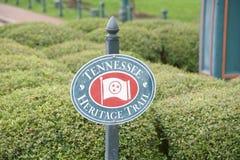 Tennessee Heritage Trails Sign Fotografering för Bildbyråer