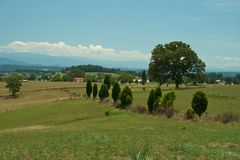 Tennessee Landscape. A rural landscape in East Tennessee royalty free stock photos
