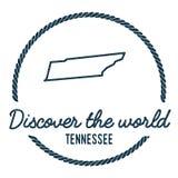 Tennessee Map Outline Le vintage découvrent le monde Images libres de droits