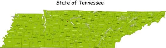 Tennessee mapa Fotografia Royalty Free