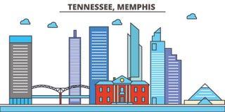 Tennessee, Memphis Horizonte de la ciudad libre illustration