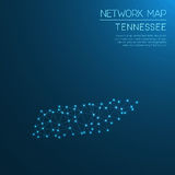 Tennessee network map. Abstract polygonal US state map design. Internet connections vector illustration Stock Photo