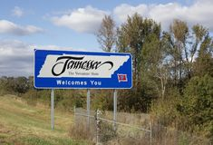 Tennessee Ochotniczy stan zdjęcia stock
