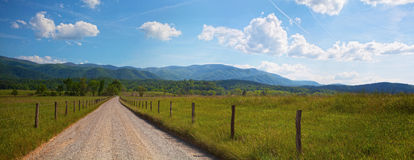Tennessee Panorama. Panorama of country road in the mountains of Tennessee Royalty Free Stock Photos