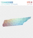 Tennessee polygonal map, mosaic style us state. Captivating low poly style, modern design. Tennessee polygonal map for infographics or presentation Stock Image