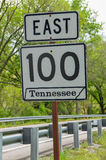 Tennessee Road Sign Stockbilder