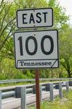 Tennessee Road Sign Stockbilder
