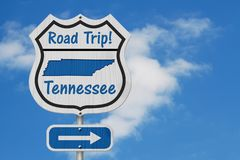 Tennessee Road Trip Highway Sign royalty free stock photo