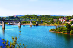 Tennessee rzeka, Chattanooga Tennessee/ Zdjęcia Stock
