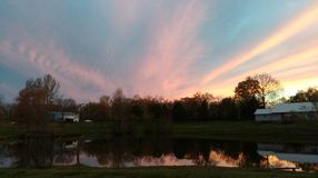 Tennessee Sky at Sunset Royalty Free Stock Photography