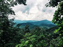 Tennessee smokey mountains. Beautiful smokey mountain view during the summer in Tennessee Stock Photos