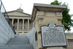 Tennessee State Capitol, Nashville, TN, USA. Tennessee State Capitol, Nashville, Tennessee, USA. This building, built with Greek Revival style in 1845, is now Stock Images