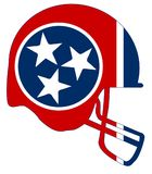 Tennessee State Flag Football Helmet Imagenes de archivo