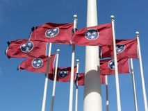 Tennessee State Flag Royalty Free Stock Photography