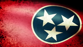 Tennessee State Flag Waving, grunge look. Tennessee State Flag Waving grunge look, video footage stock video footage