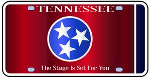 Tennessee State License Plate Flag Image stock
