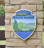 Tennessee State Parks Seal royaltyfria foton