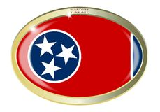 Tennessee State Seal Oval Button Photos libres de droits