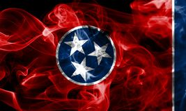 Tennessee state smoke flag, United States Of America.  royalty free stock photo