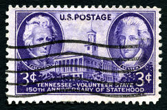 Tennessee Statehood USA portostämpel Royaltyfria Foton
