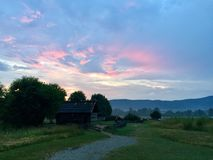 Tennessee Sunset. Tennessee mountain sunset Stock Images