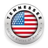 Tennessee Usa flag badge button. Vector Stock Photos