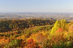 Tennessee Valley from Foothills Parkway West in Autumn Royalty Free Stock Photo