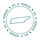 Tennessee vector map. Stock Photo