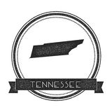 Tennessee vector map stamp. Stock Images